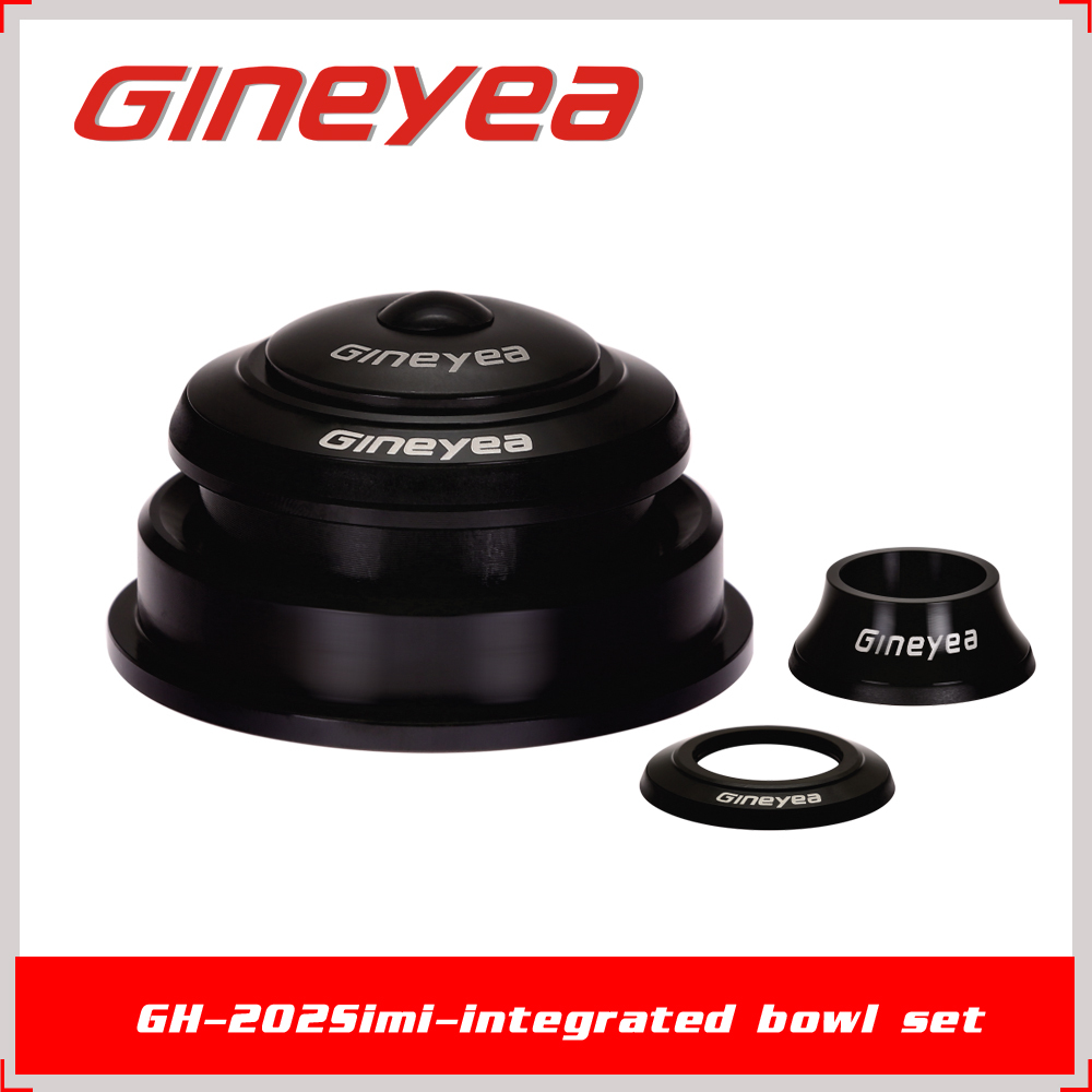 "1-1/8"" to 1-1/2"" Gineyea GH-202 Threadless Sealed Bearing Carbon Fiber Bike Headset Bicycle Spare Parts for MTB BMX"