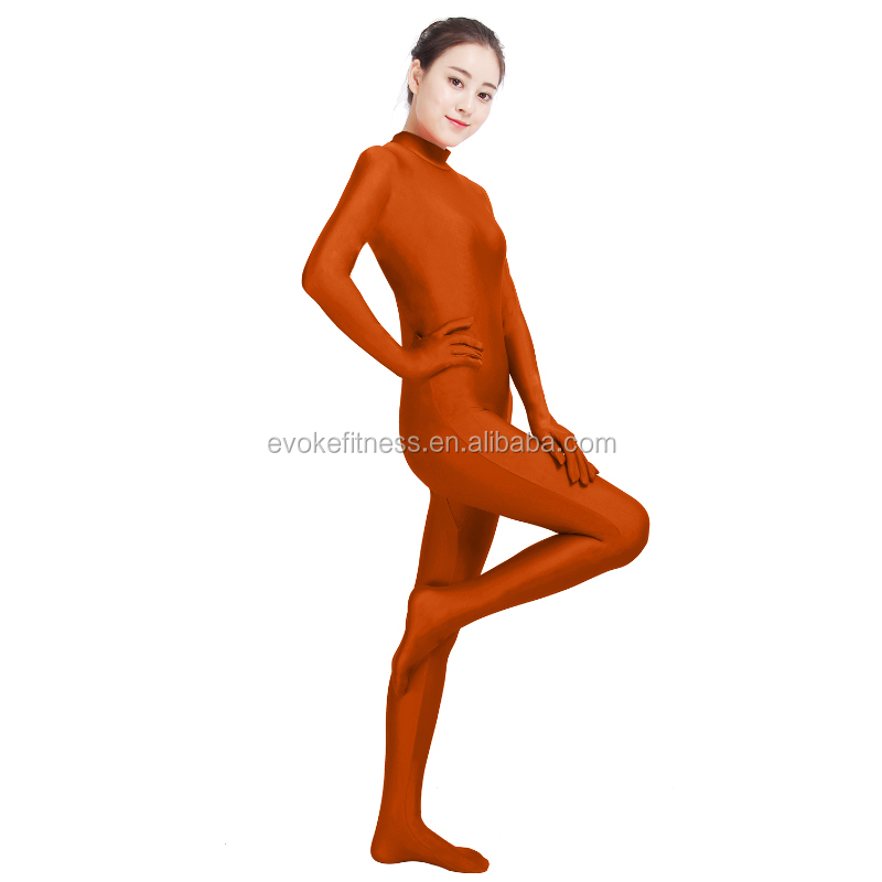 Coffee Boat Neck Adult Full Body Ballet Unitard/Dance Costume/ Gymnastics Leotard/Cosplay Wear