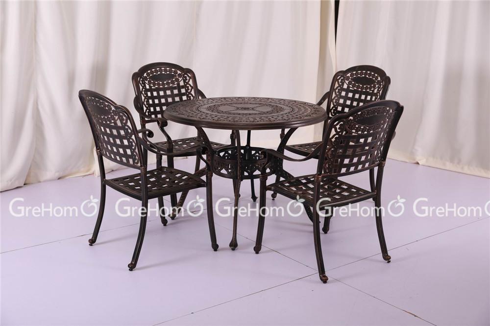 Cast iron garden furniture antique coffee table set buy for Cast iron outdoor coffee table