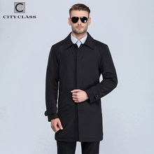 1061 Top Selling Fashion Man Loose trench Coat High Quality Men Black Trench Coat
