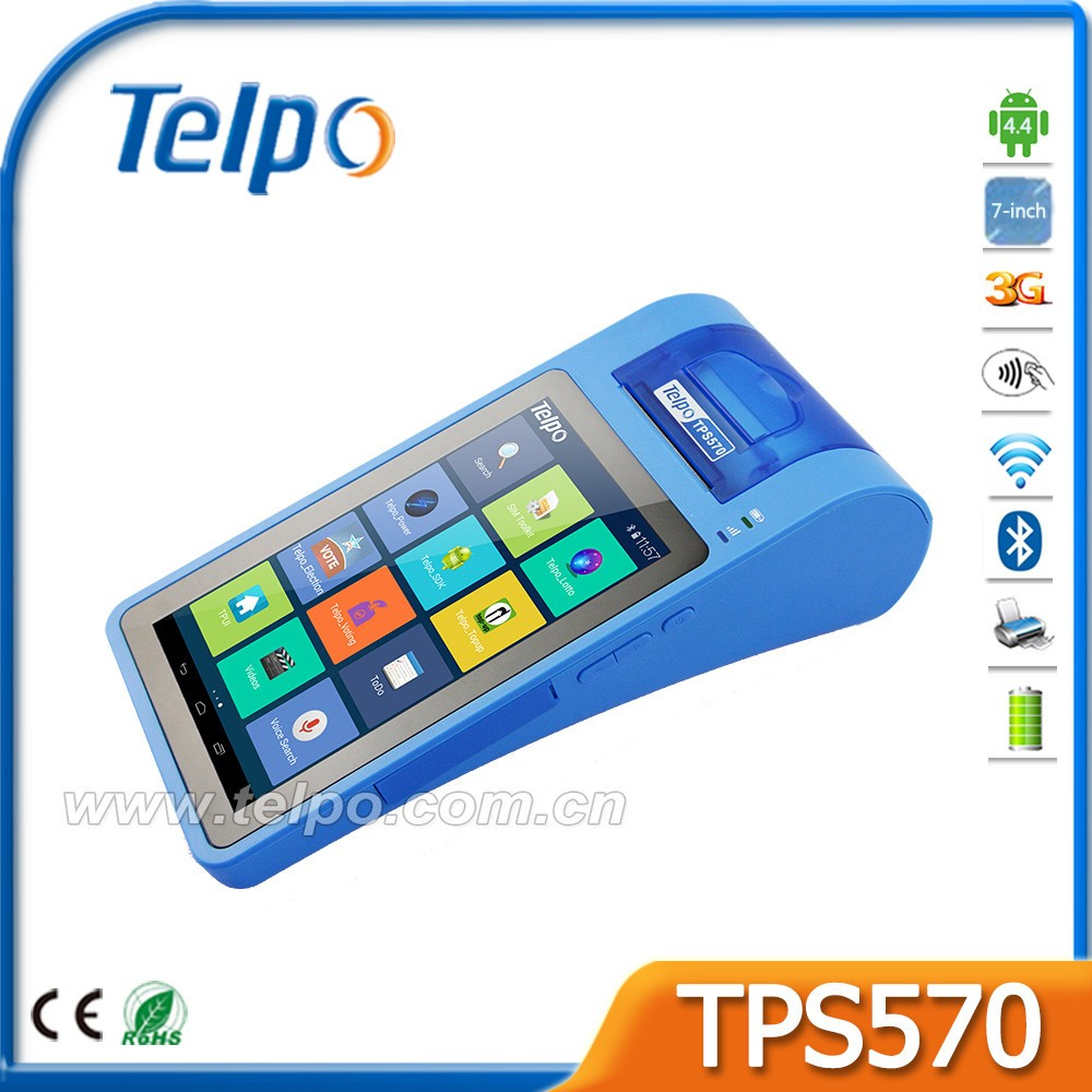 Telpo TPS570 CE Certificated NFC Reader Android Pos device with Printer