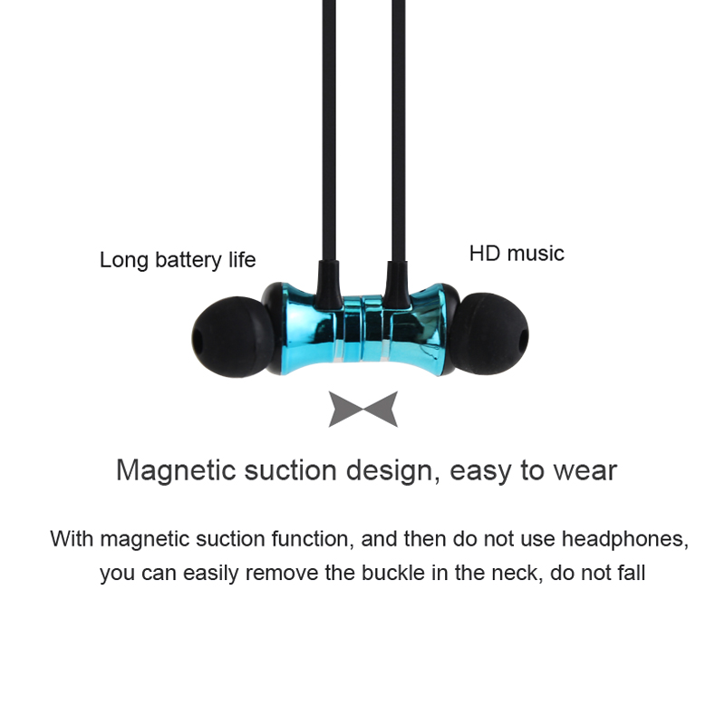 Factory Price Magnetic Sports Wireless Earphones Stereo Wireless Bluetooth Cordless Earphones