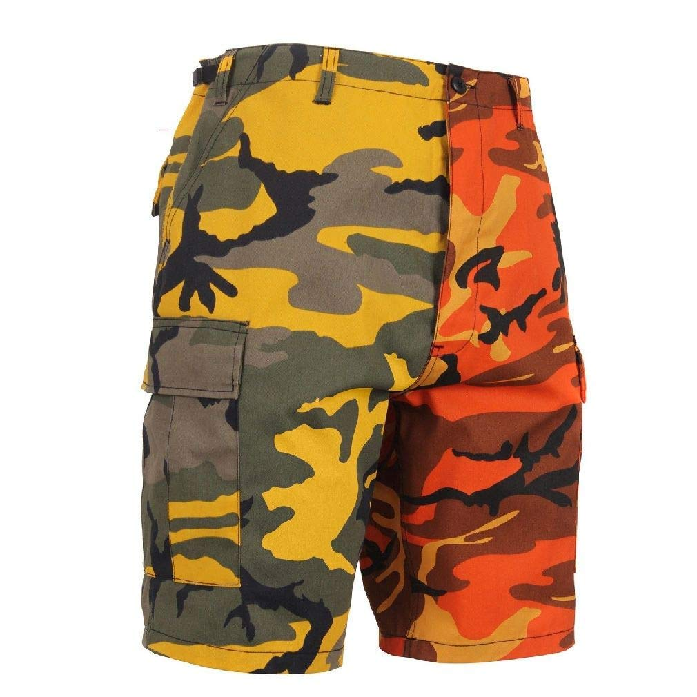 BlackC Sport BDU Shorts Two-Tone Camo Military Camouflage