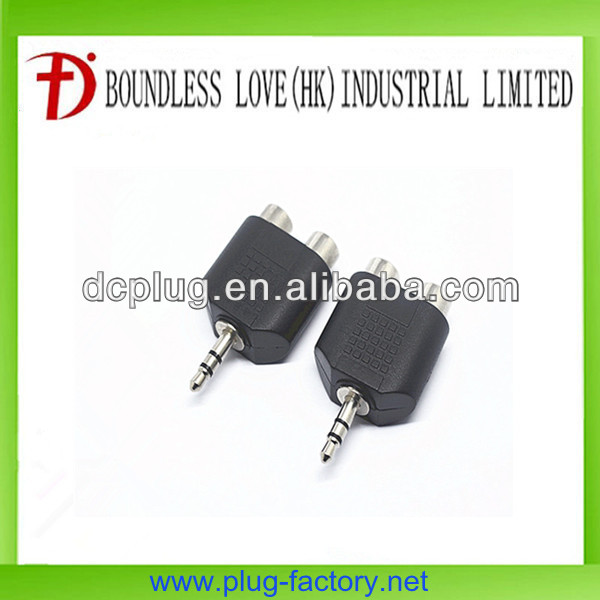 High quality mobile phone audio connector with 2 rca jack