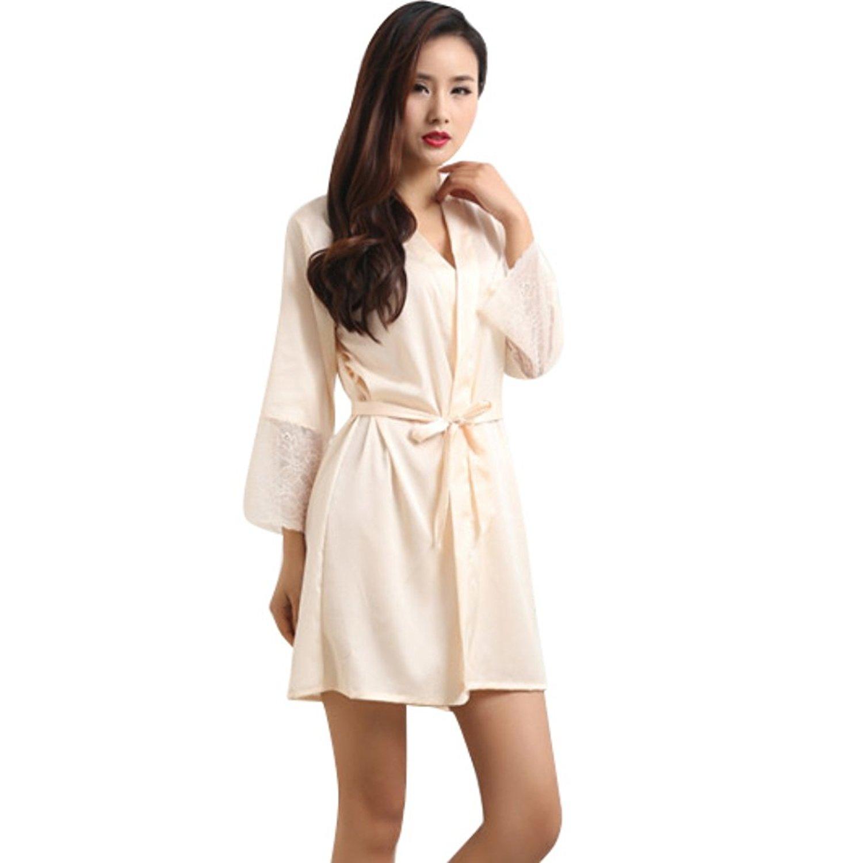Get Quotations · Gsha Women s Lace Sleepwear Robe 03d07a3f5