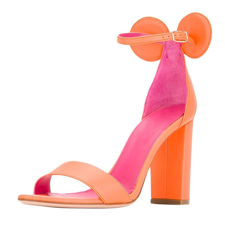 New style women cute mickey mouse chunky heel <strong>sandals</strong>