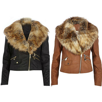 China Supplier Cheap Faux Leather Jacket