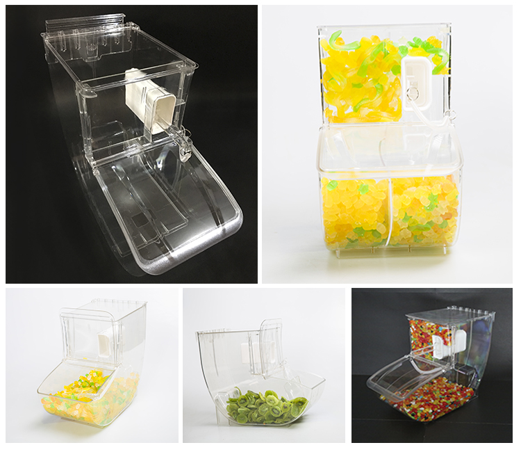 Wholesale Plastic PC material Candy /Nuts Storage Bins and Dispenser With Scoop