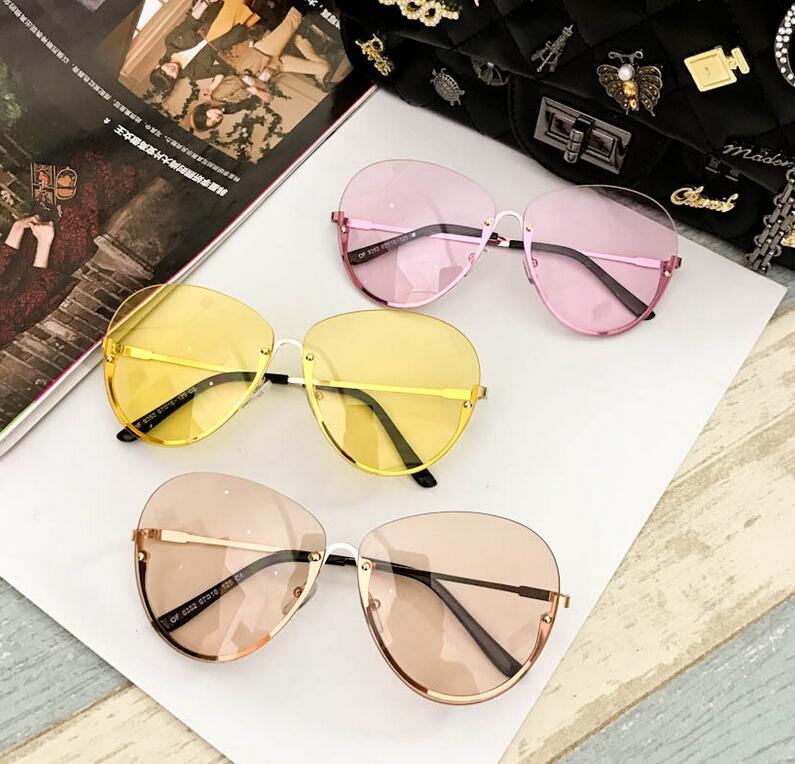 comprar popular b1bc2 a89af Emosnia gafas De Sol transparentes grandes para mujer montura De gran  tamaño lentes transparentes para mujer gafas De Sol sin montura nueva  llegada ...