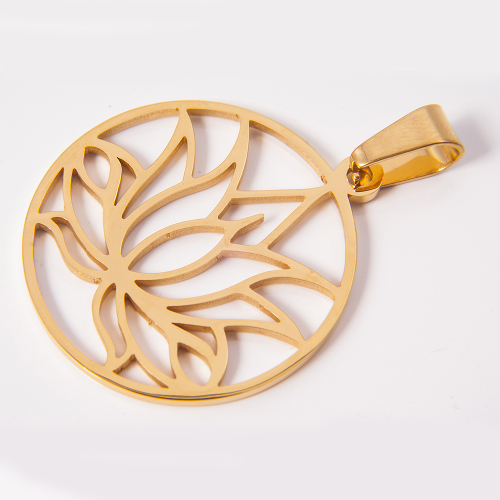 China gold lotus pendant wholesale alibaba mozeypictures Image collections