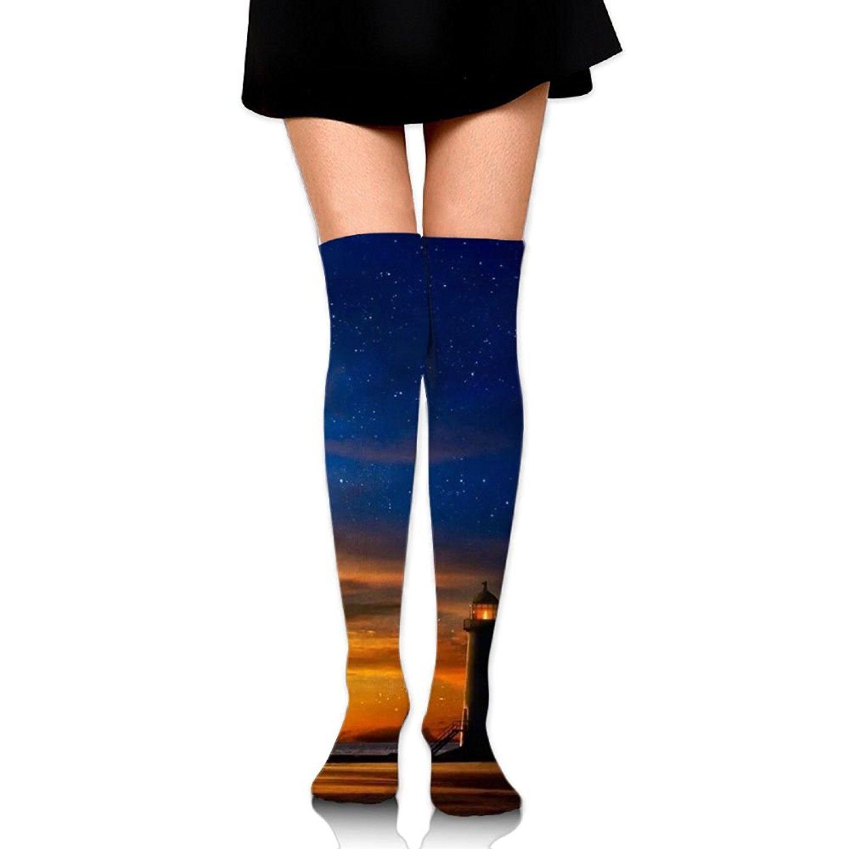Zaqxsw Lighthouse Women Fashion Thigh High Socks Cotton Socks For Womens