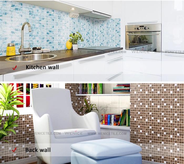 Cheap Mosaic Tile Sheets For Blue Ceramic Bathroom Wall Tile - Buy ...