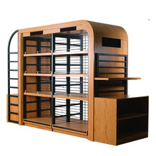 The New Factory wholesale custom Multifunction Detachable Steel-wood combination display shelf