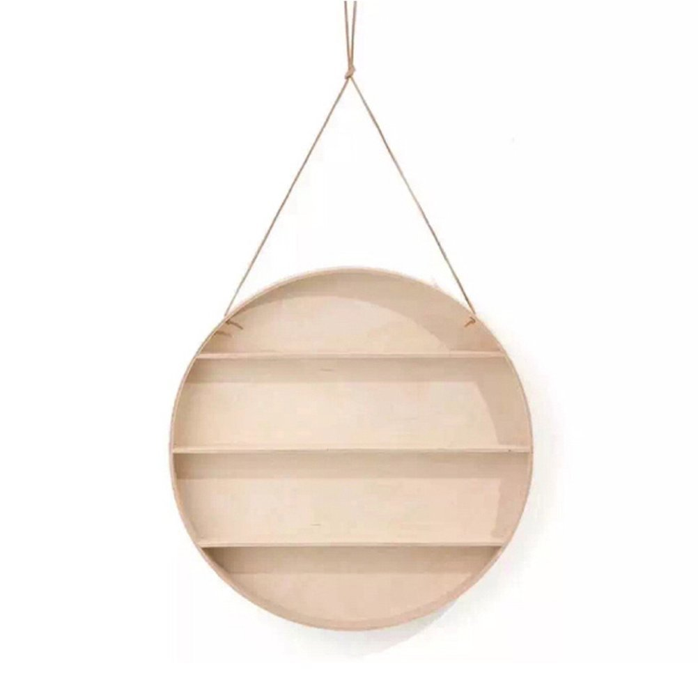 LQQGXL Storage and organization Round shelf wall frame Nordic style decorative frame (59X10CM)