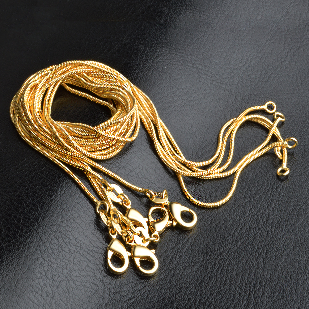 """10//20//50pcs Silver Plated 1mm Snake Chain Necklace 16/"""" 18/"""" 20/"""" 22/"""" 24/"""""""