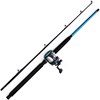 Competitive fishing combo 1.80m strong trolling fishing rod reel
