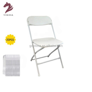 Yinma Wholesale flexible White wedding party Plastic folding chair