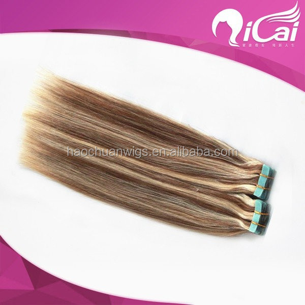 Silky Straight Brazilian Human Hair Piano Color Skin Tape Hair Extension