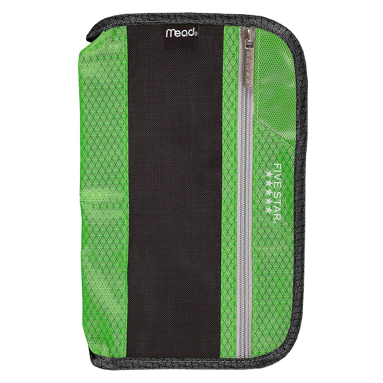 Five Star Xpanz Zipper Carrying Case / Pouch for Pencil, Pen, Supplies - Puncture Resistant, Lime/Black