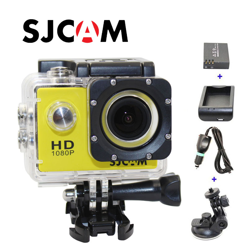 Free shipping!!Original SJ4000 SJCAM HD Sport Action Camera+Car Charger+Holder+Extra 1pcs battery+Battery Charger for DV camera