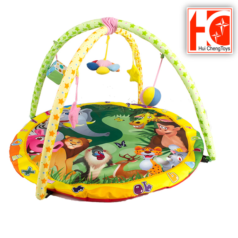 wholesale eco friendly material gym mats baby baby toys with BB whistle and bell