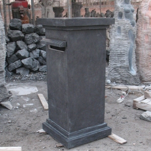 black marble stone carved mailboxes