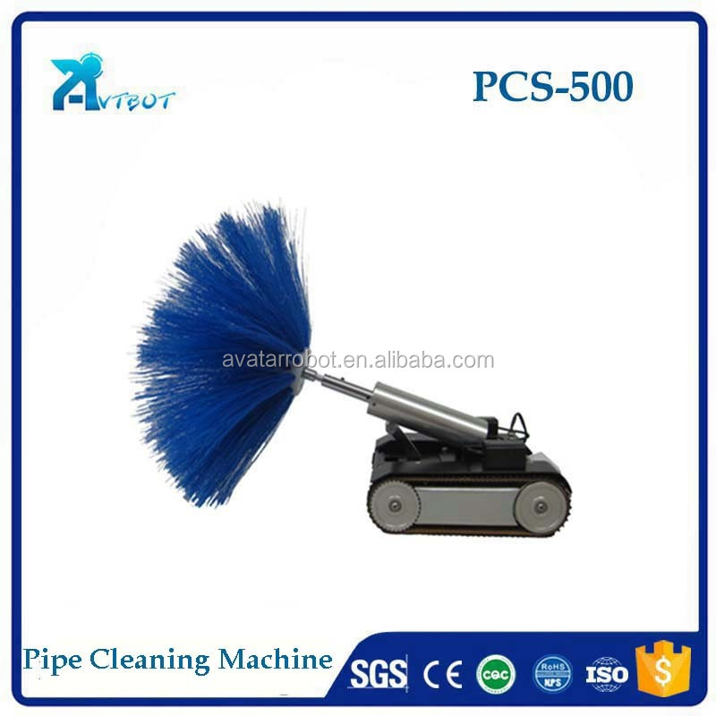 small oil fume pipeline robot cleaner with brush