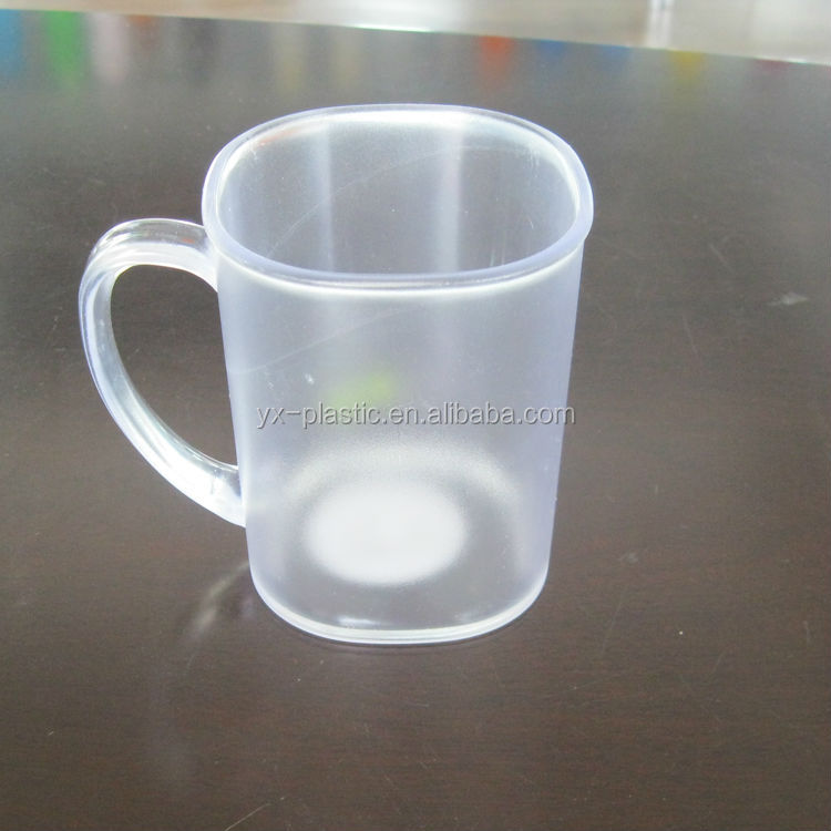 Reusable 12oz Plastic Cup With Handle In Apple Shape