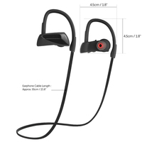 Manufacturer China U12 Bluetooth Headset Sport Wireless Waterproof Headphones IPX7 Audifonos
