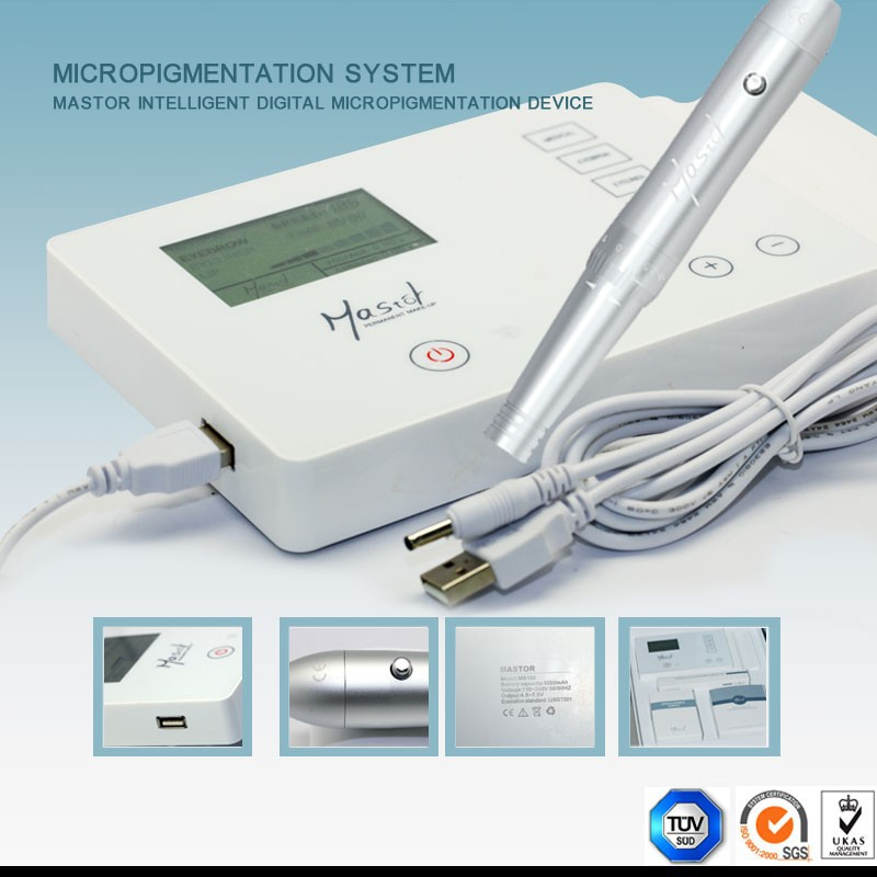 Digital semi permanent make up eyebrow tattoo kit machine