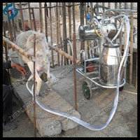 Direct supply portable goat milking machine in dairy farm