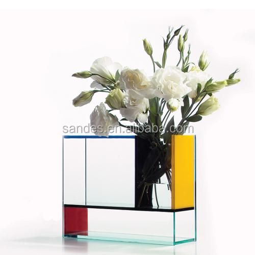 Single Cheap Refrigatee Shape Acrylic Flower Vases Display Buy