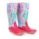 Customized Personalized Women's Waterproof Rain Tall Lilly Inspired Duck Boots