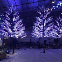 2019 new products commercial 6M height RGB LED cherry blossom display tree street decoration