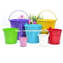 garden color galvanized mini metal buckets small metal mini bucket