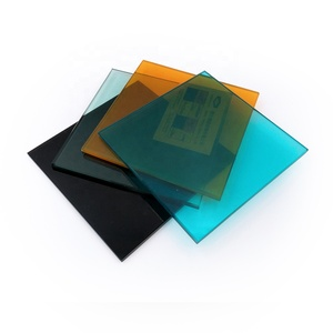 opaque colorful tempered laminated glass price for outdoor and indoor