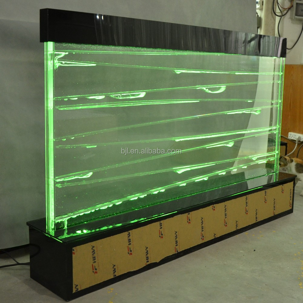 Led acrylic water bubble panel feature screen divider wall for Fish tank divider