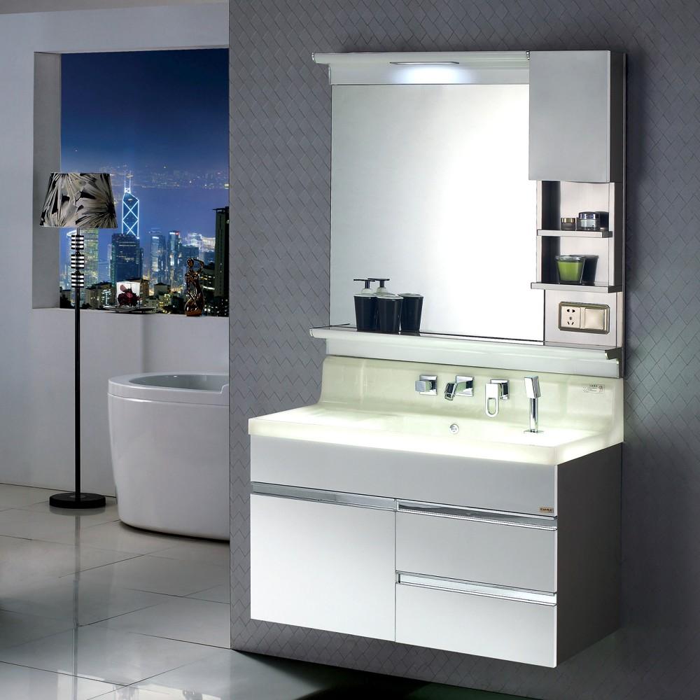 Economic bathroom vanity 600mm 800mm white black brown for Bathroom cabinets 600mm