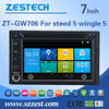 double din car dvd for great wall steed 5 wingle 5 car dvd player with bluetooth/audio/radio/gps navigation