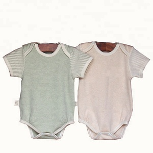 baby clothes plain organic cotton body baby romper 100% cotton