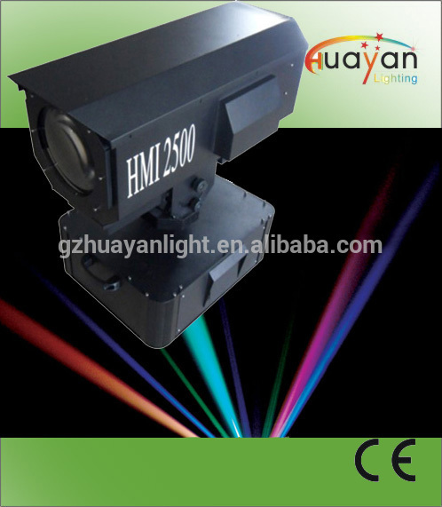 best selling products full color outdoor searchlight HMI 2500w sky rose 16 beams waterproof lighting equipment