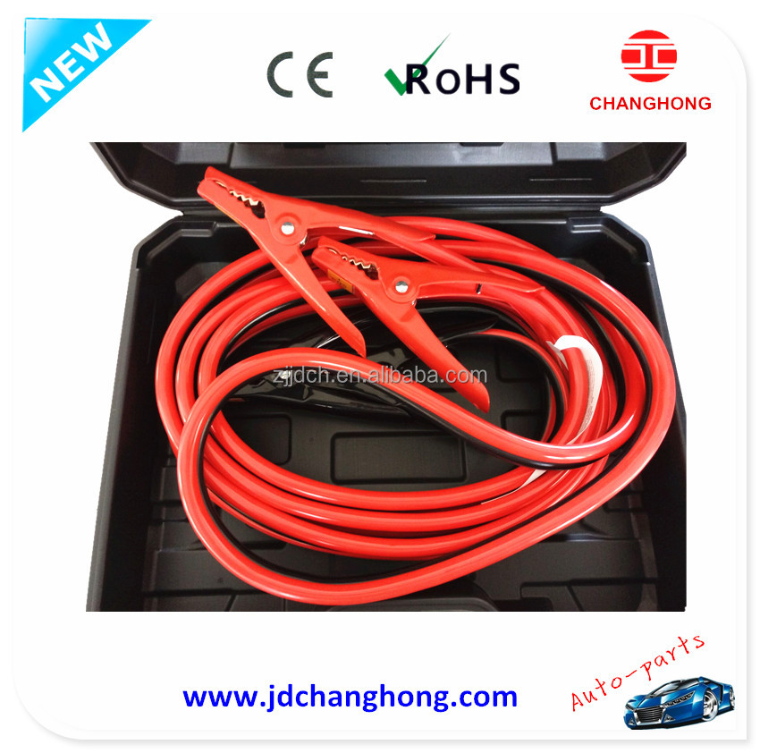 4Gauge 20-foot new clamp modle jumper cable wires 500A Copper Clad Aluminum Jumper Cables with carry BOX