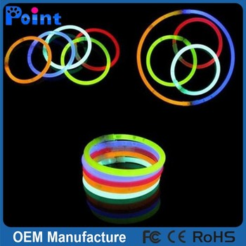 various color led glow stick for christmas glow stick bracelet for festival decoration glow stick