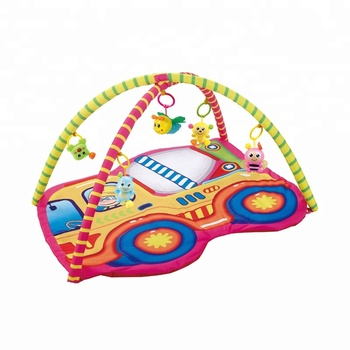 Amazon top seller 2018 cartoon car baby education play mat