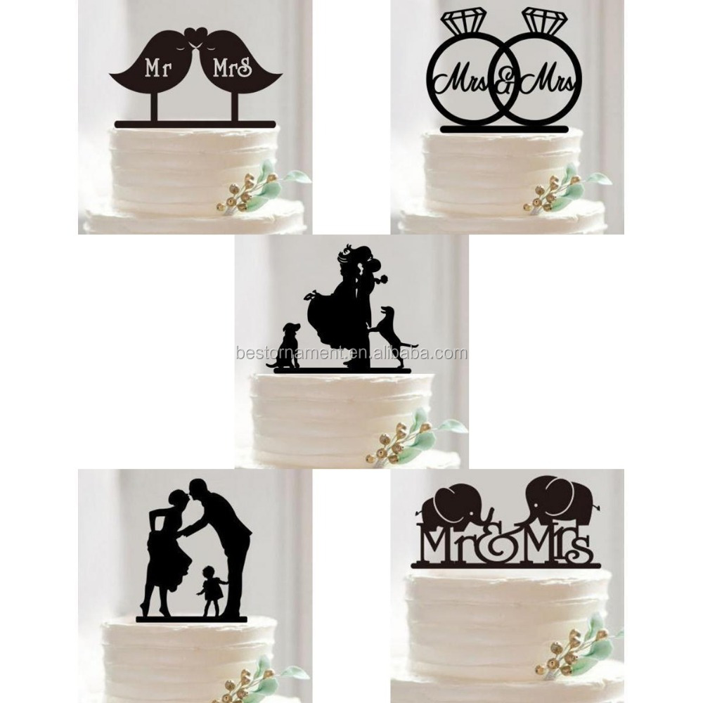 Acrylic Mr & Mrs Couple Wedding Cake Topper Bride & Groom Party ...