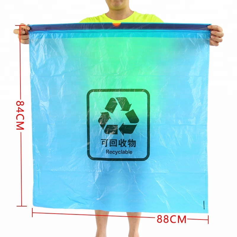Big Size Garbage Bag Hotel Use <strong>Black</strong> Disposable Carry Drawstring Trash Waste Bags