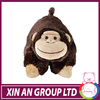 plush monkey cushion