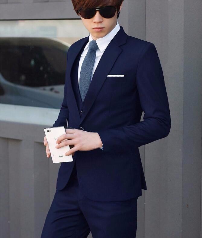 Latest Fashion Navy Blue Two Buttons Business 2 Piece Men Suits Cheap Sale Suit Buy 2 Piece Men Suits Suit Men Business Suit Product On Alibaba Com