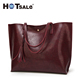 Factory Wholesale Custom Trendy Premium Pu Leather Large Tote Bag Women Handbags