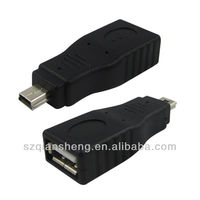 USB 2.0 A to Micro B Data Cable Adapter Female to Male Adapter Converter